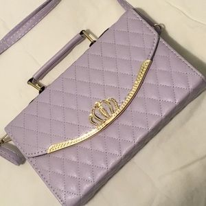 Handbags - Lavender quilted leather handbag